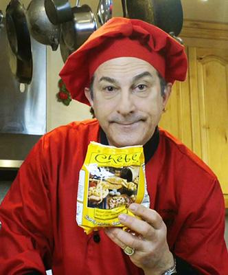 Funny Speaker and Celebrity Chef makes breadsticks